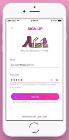 Avoid a long Sign-up & checkout process