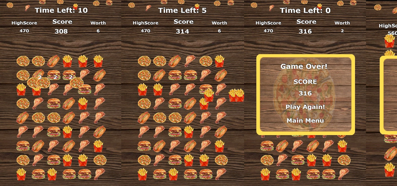 Pizza Burger Crush Game