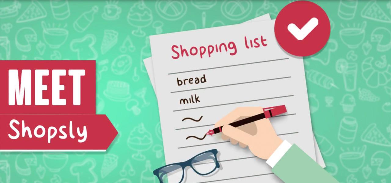 Shopsly - shopping list