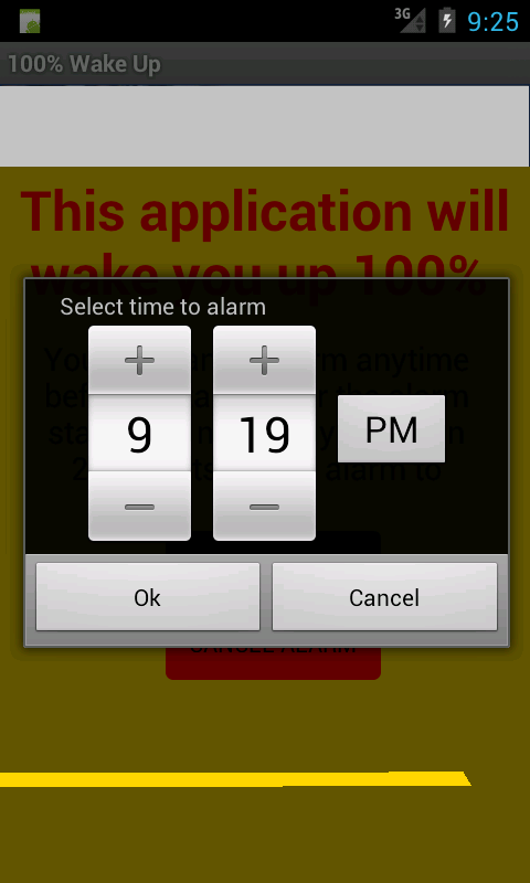 100% wake Up Alarm Clock
