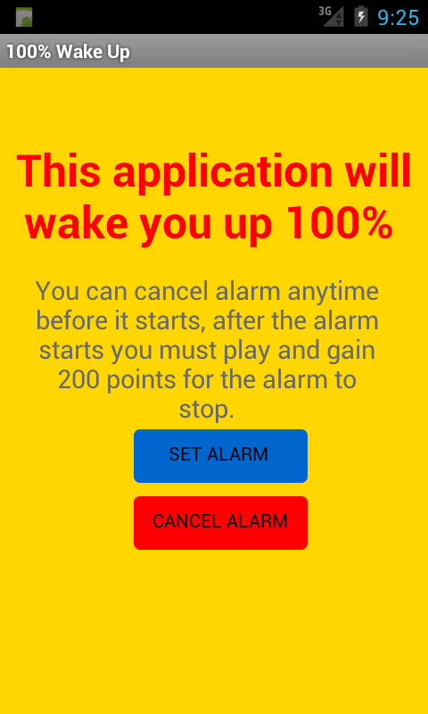 100% wake Up Alarm Clock