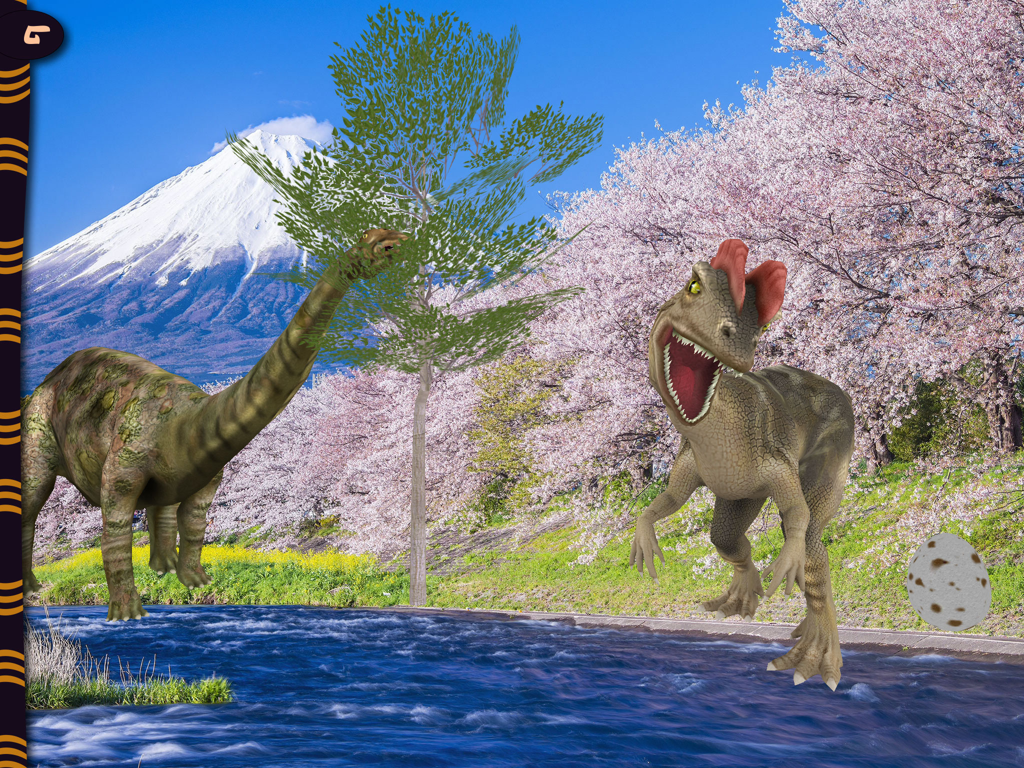 3D Animated Stickers Dinosaurs