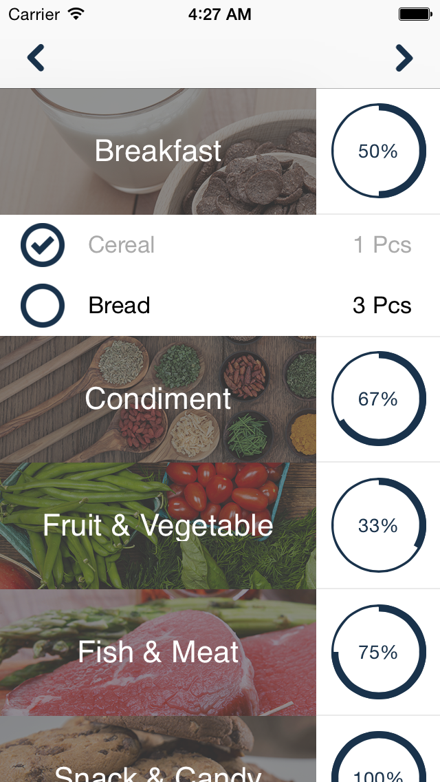 Aisle – Grocery Shopping List