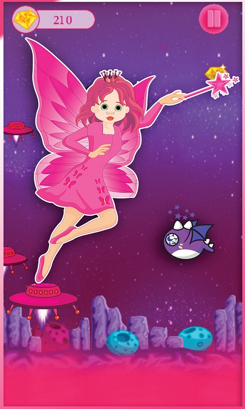 Alien Super girl Pink princess