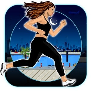 Amateur Lady Run : Moon Night Escape Challenge