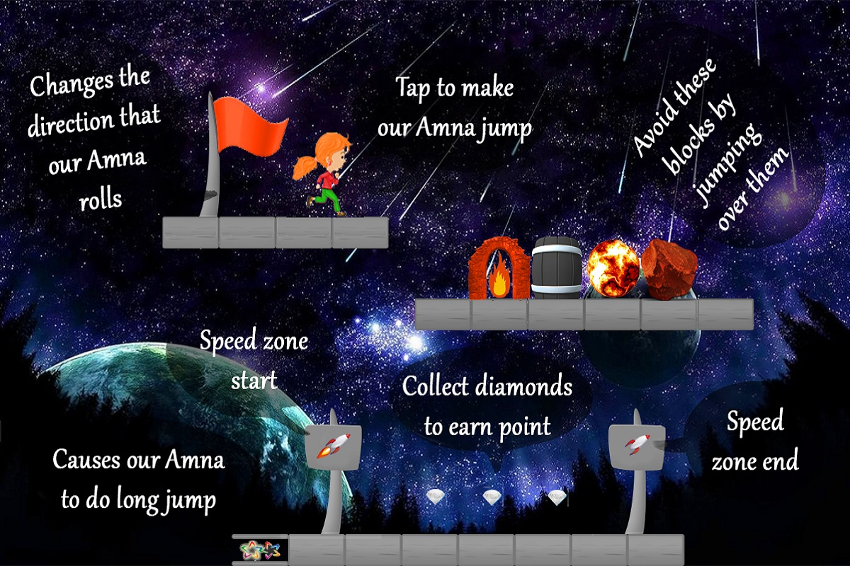 Amna in Galaxy – Free Game