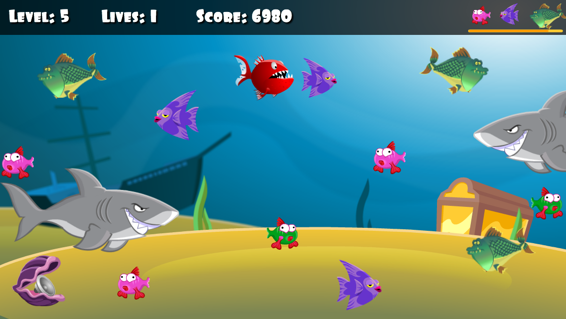 Angry & Crazy Hungry Fish 3D