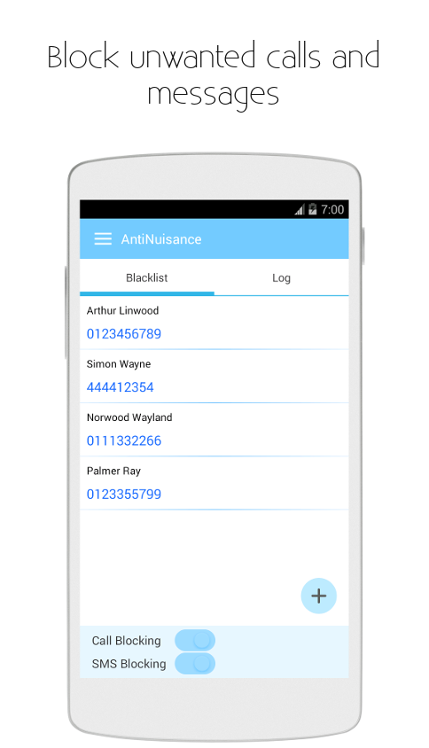 AntiNuisance - Call and Message Blocker