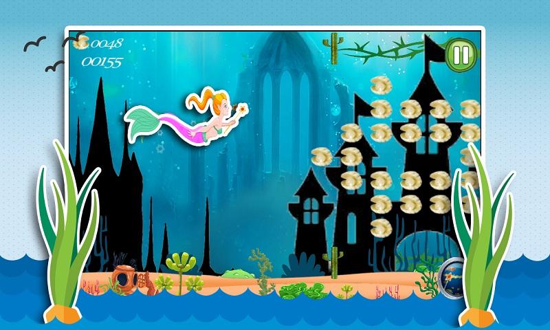 Aqua Little Mermaid Princess