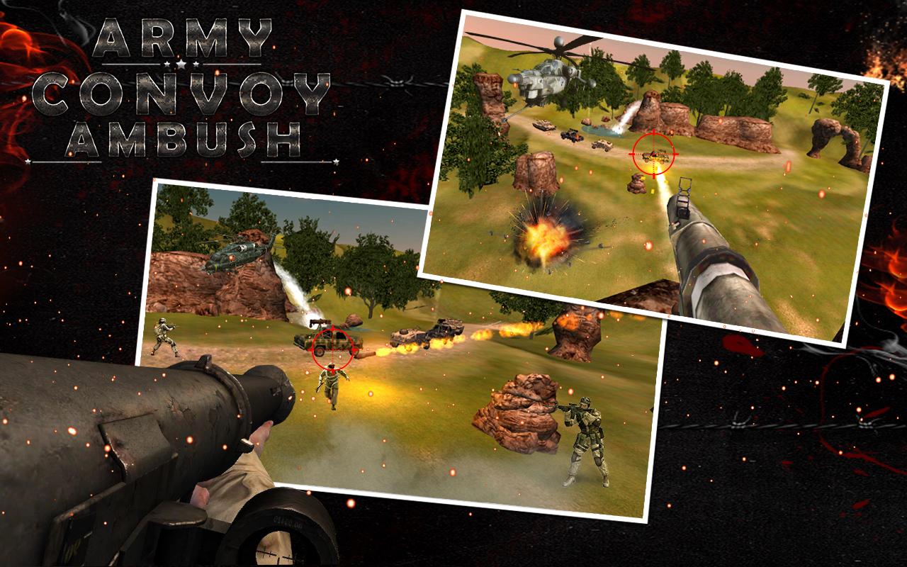 ARMY CONVOY AMBUSH 3D