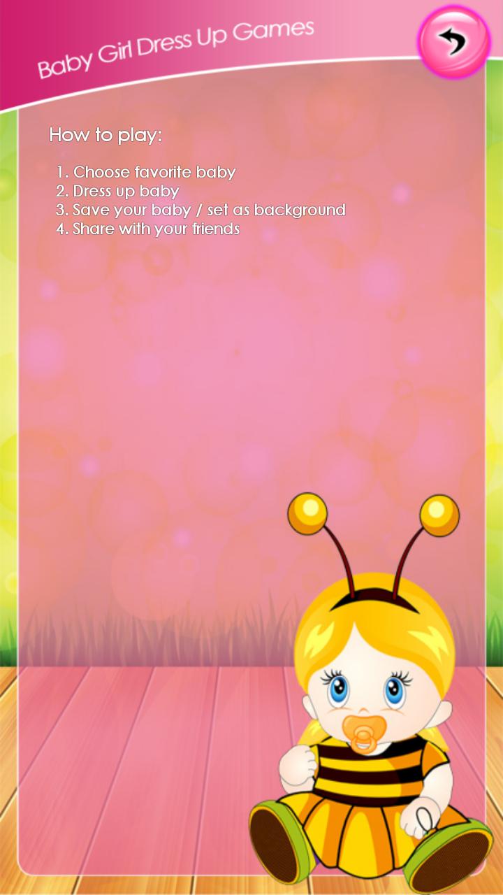 Baby Bedroom Dress Up Games: Baby Girl Dress Up Games
