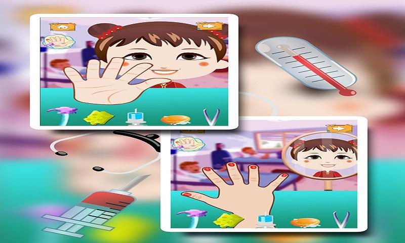 Baby Girl Hand Doctor Kid game