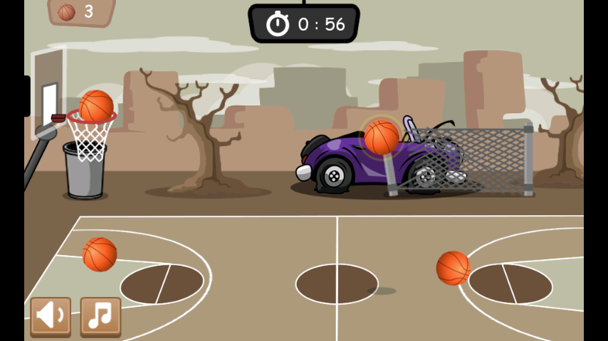 Basketball Game 1 minute