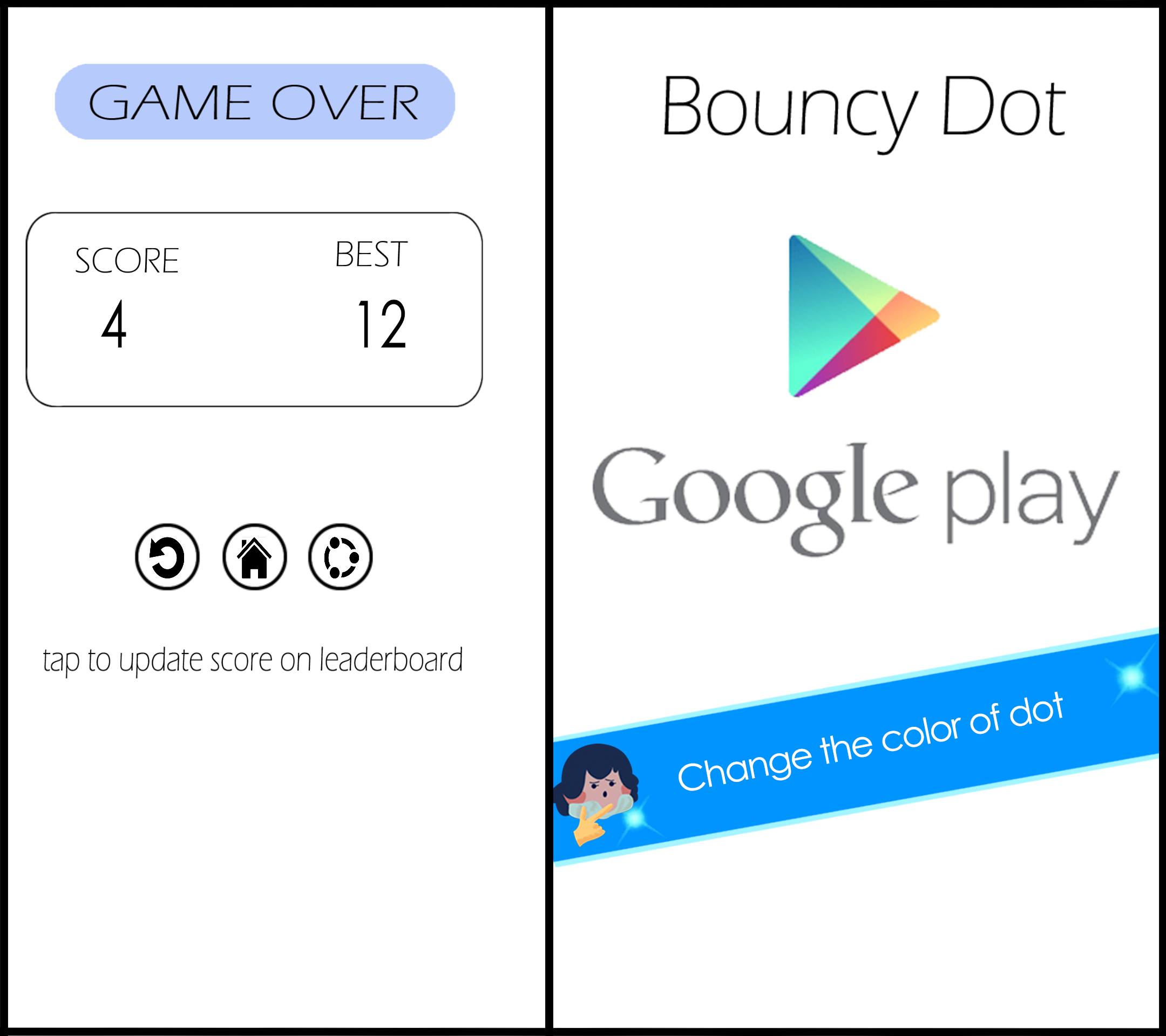 Bouncy dot