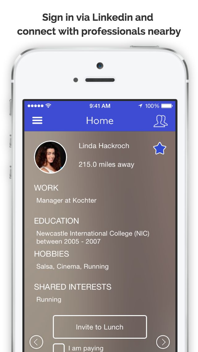 BreathR – Professionally Network Over Lunch