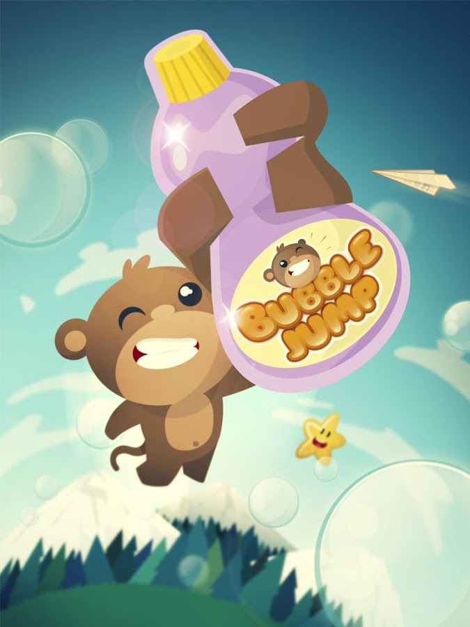 BubbleJump! starring BAM the Monkey – New FREE Kids Game
