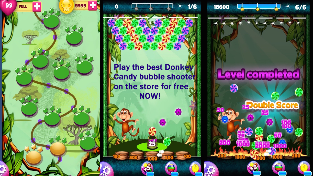Candy Donkey Bubble Shooter