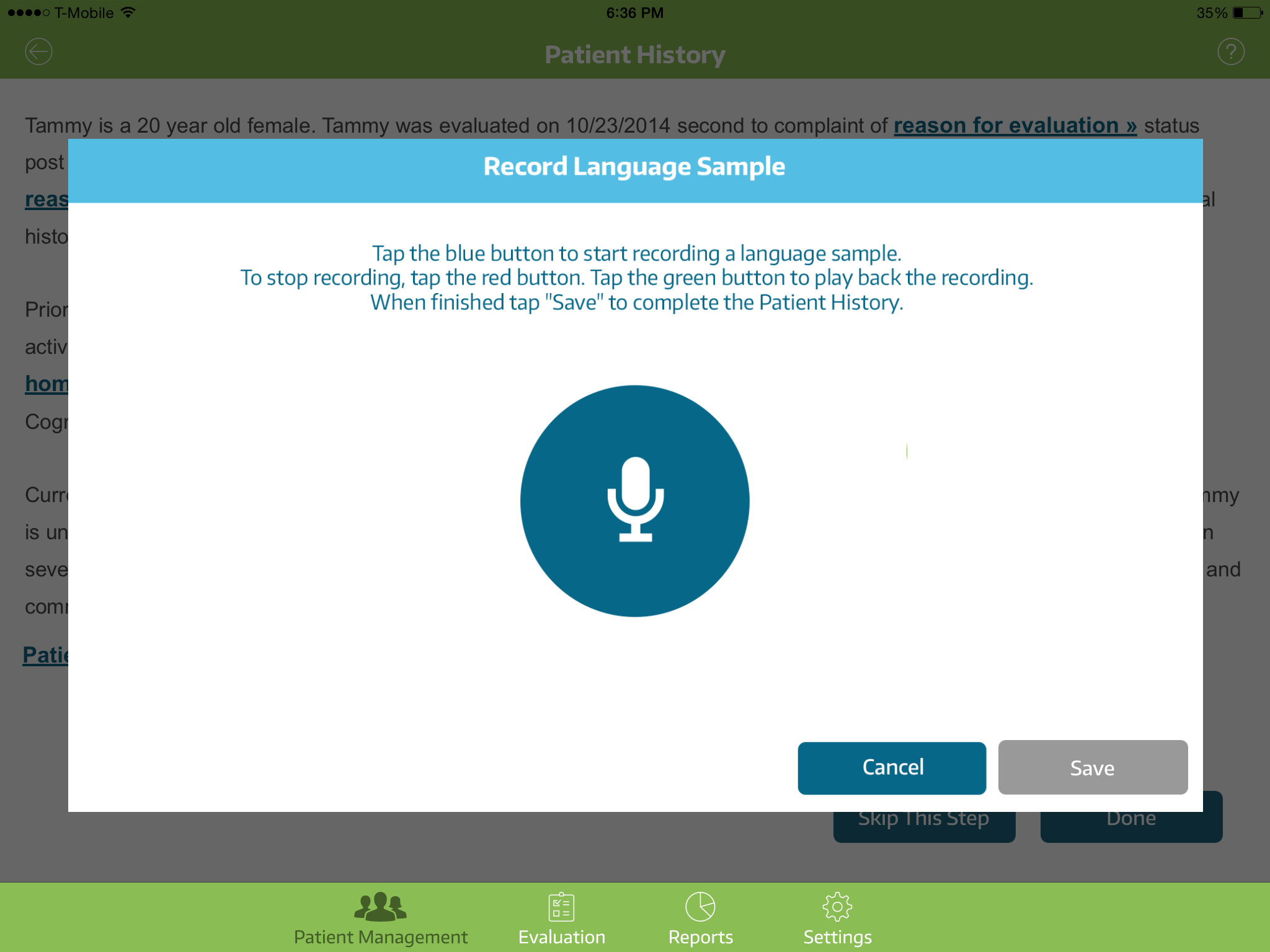 CASE: Comprehensive Adult Speech-Language Evaluation