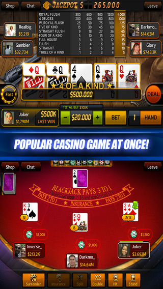 Casino Live – Holdem, Slots, Video poker, Blackjack, Roulette
