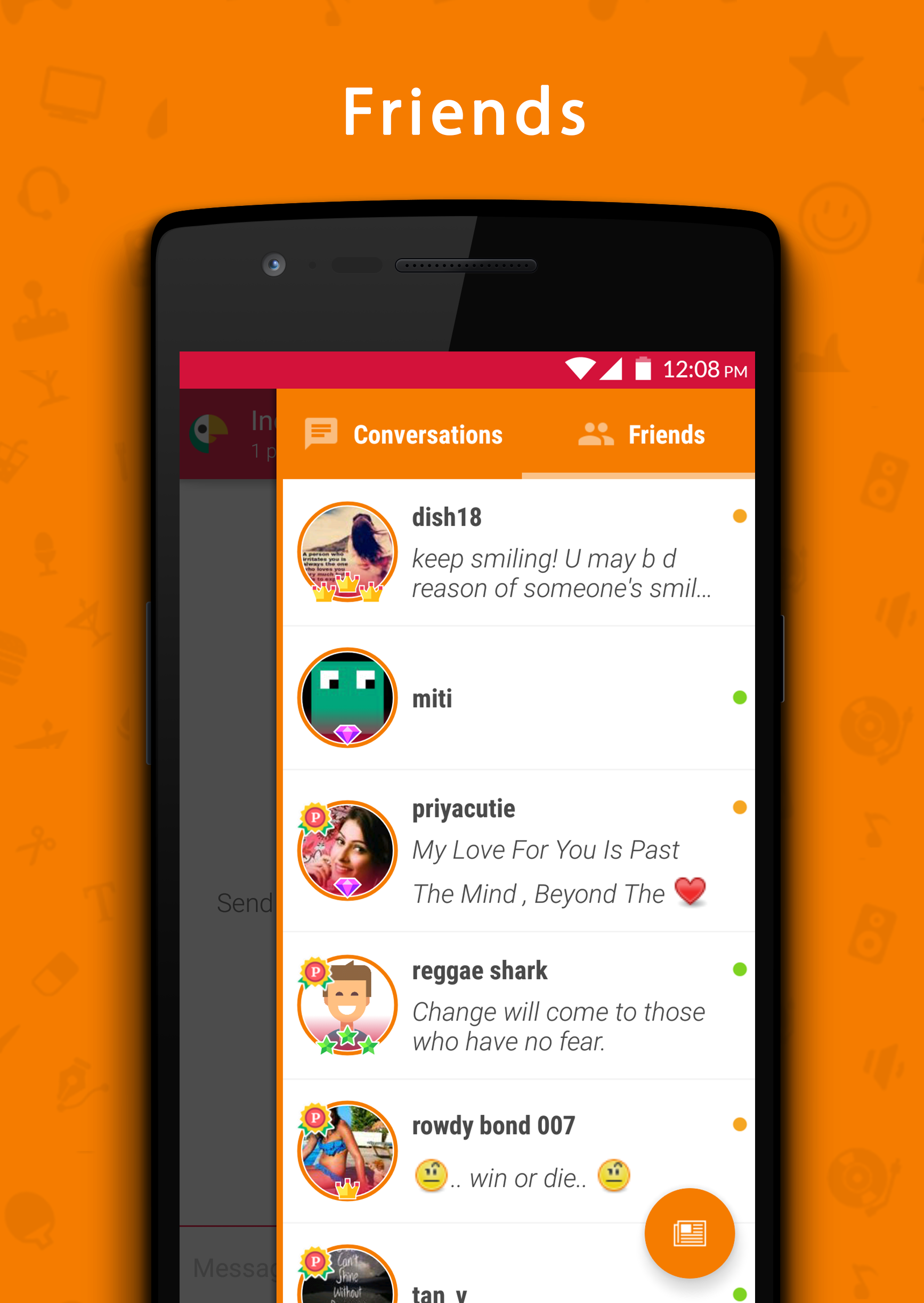 yahoo chat rooms for android Free yahoo chat room and chat rooms site for all to enjoy from all over world this is an alternative chat platform for yahoo chatters note: -by using the website or entering the chat room you agree to the : disclaimers.