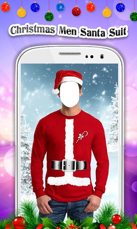 Christmas Men Santa Suit