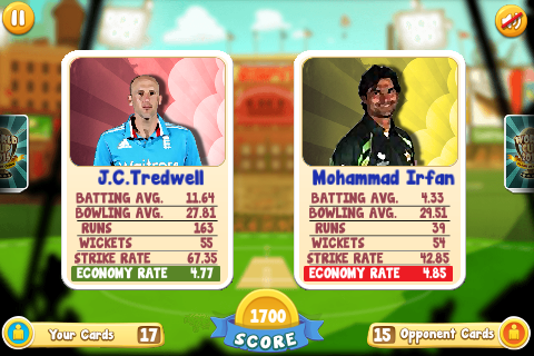 Clash of Cricket Cards