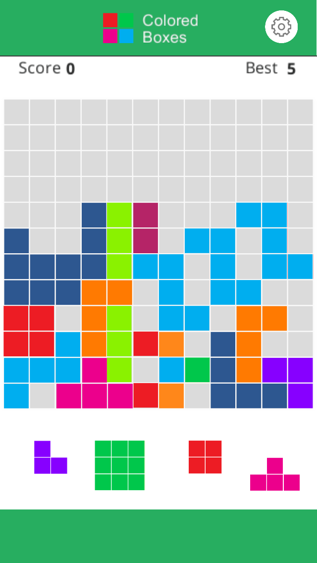 Colored Boxes – 1010 & 1212 Blocks Puzzle Obsession