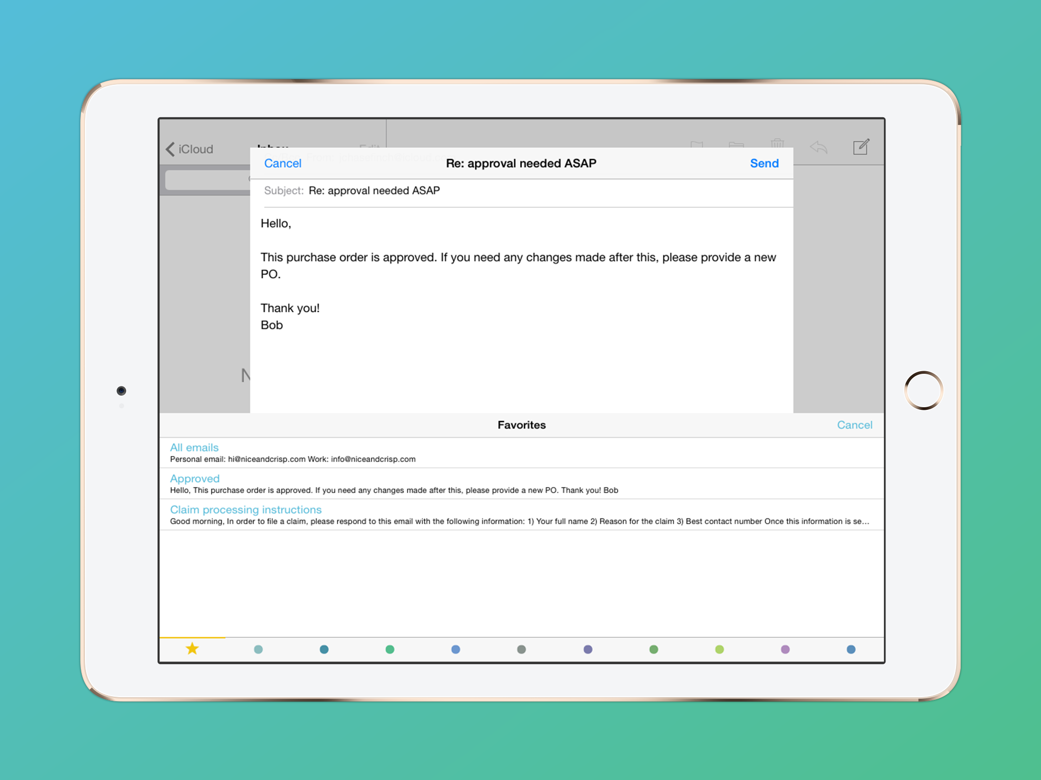 Crisp – Email Template Keyboard