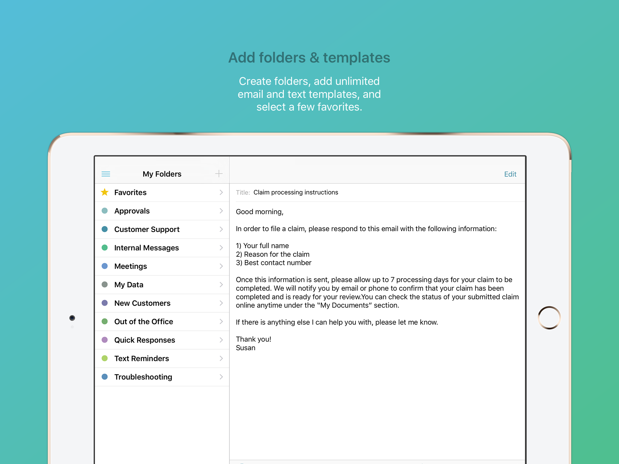 Crisp – Email Template Keyboard
