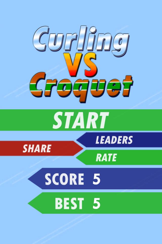 Curling VS Croquet