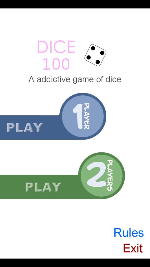 Dice 100 Game