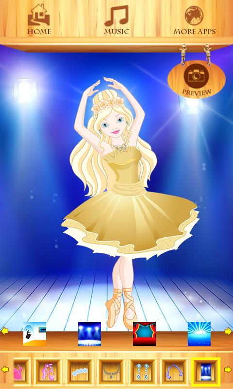 Dress Up Girl For Ballet