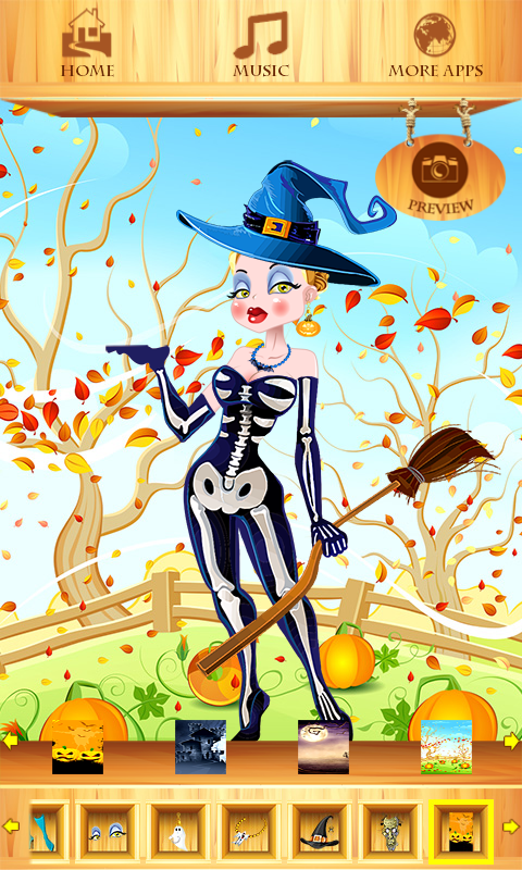 Dress Up Halloween Girl