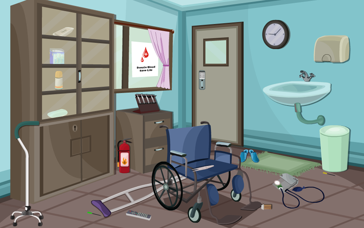Escape Deserted Hospital Room