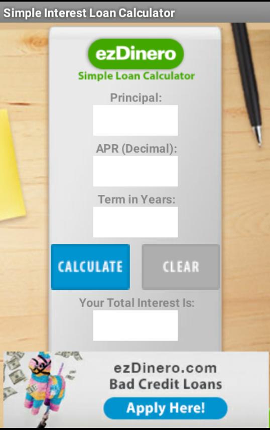 ezDinero Loan Calculator