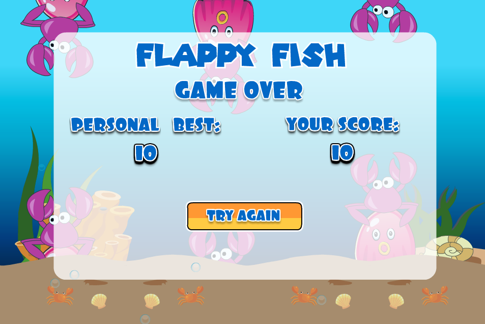 Flappy Fish in Sea