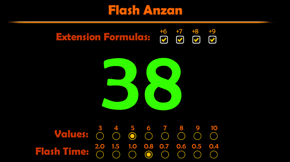 Flash Anzan – Mental Math