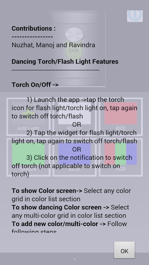 Flash Light or Torch (Dancing)