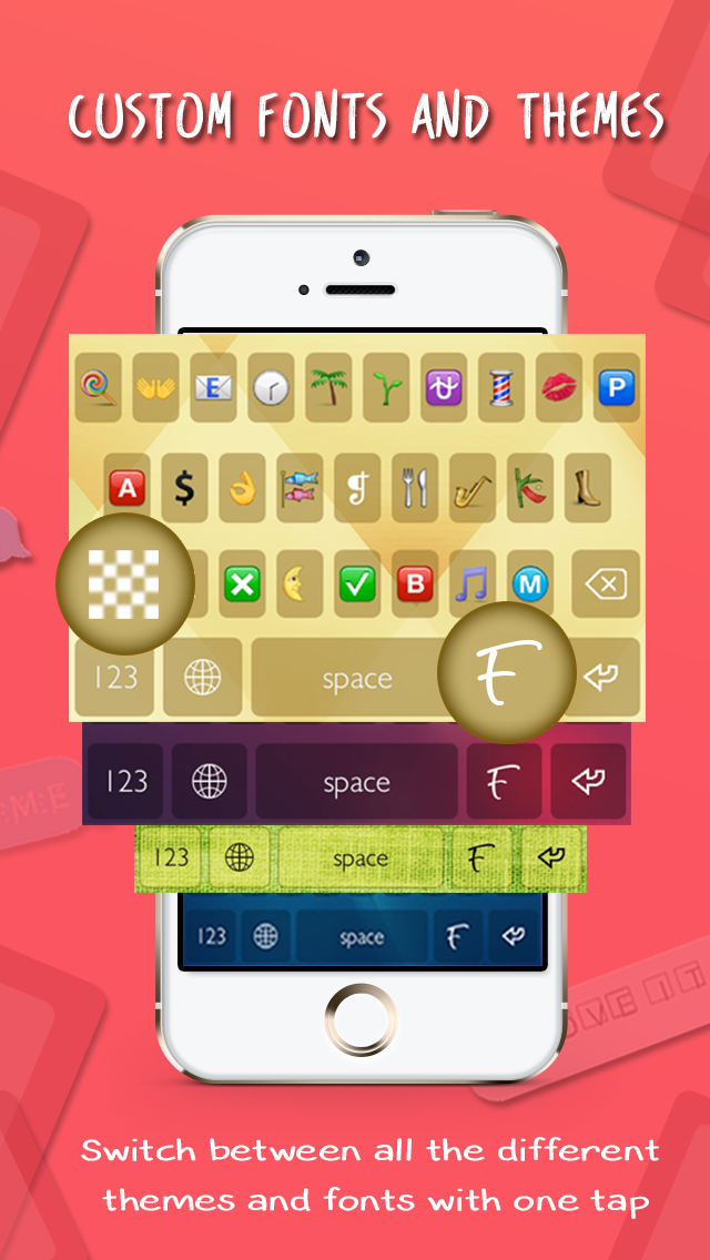 Fontizer Plus – Keyboard with different themes and fonts for iOS 8