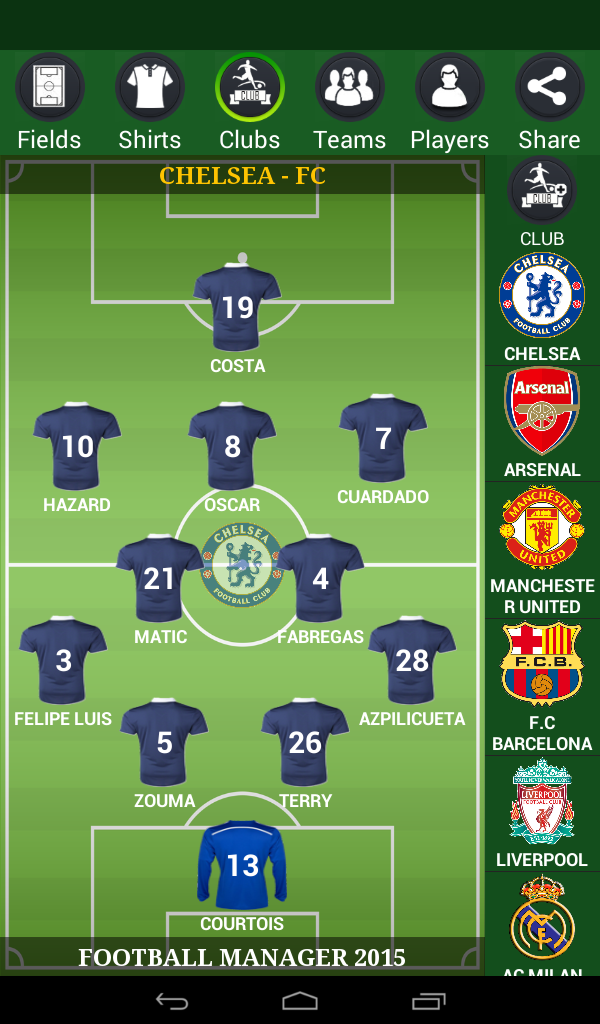 Football Lineup Manager 2015