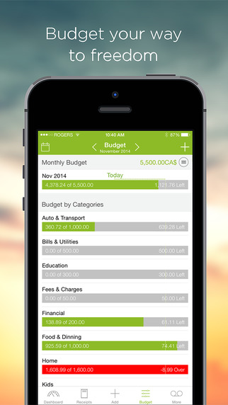 Foreceipt Receipt Manager for Google Drive - Scan Receipts,Track Expense & Incomes, Financial Budget Planning