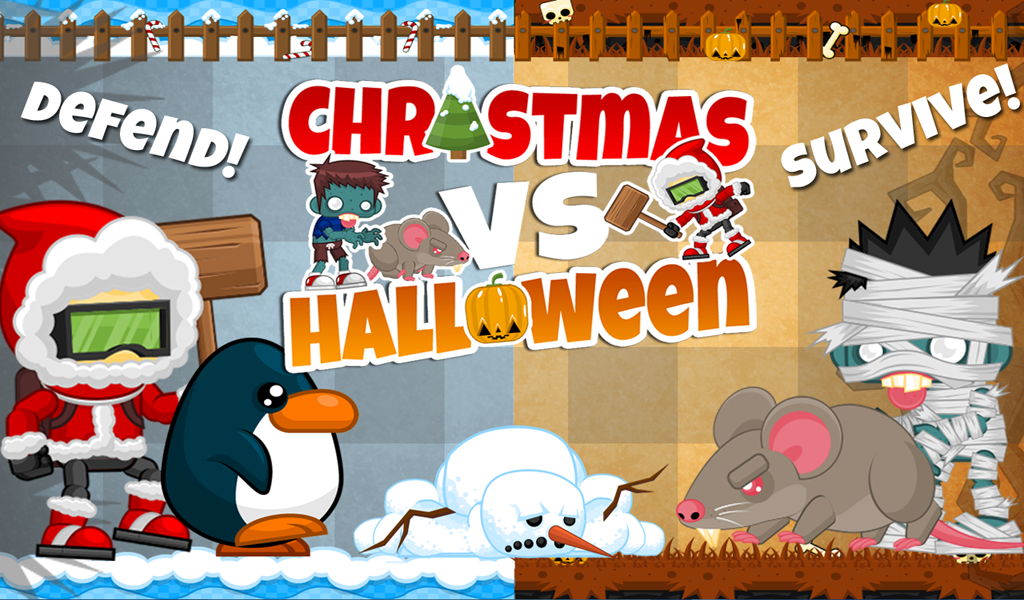 FREE Christmas vs Halloween Battle