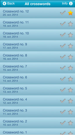 Free Crosswords – Clues in Squares
