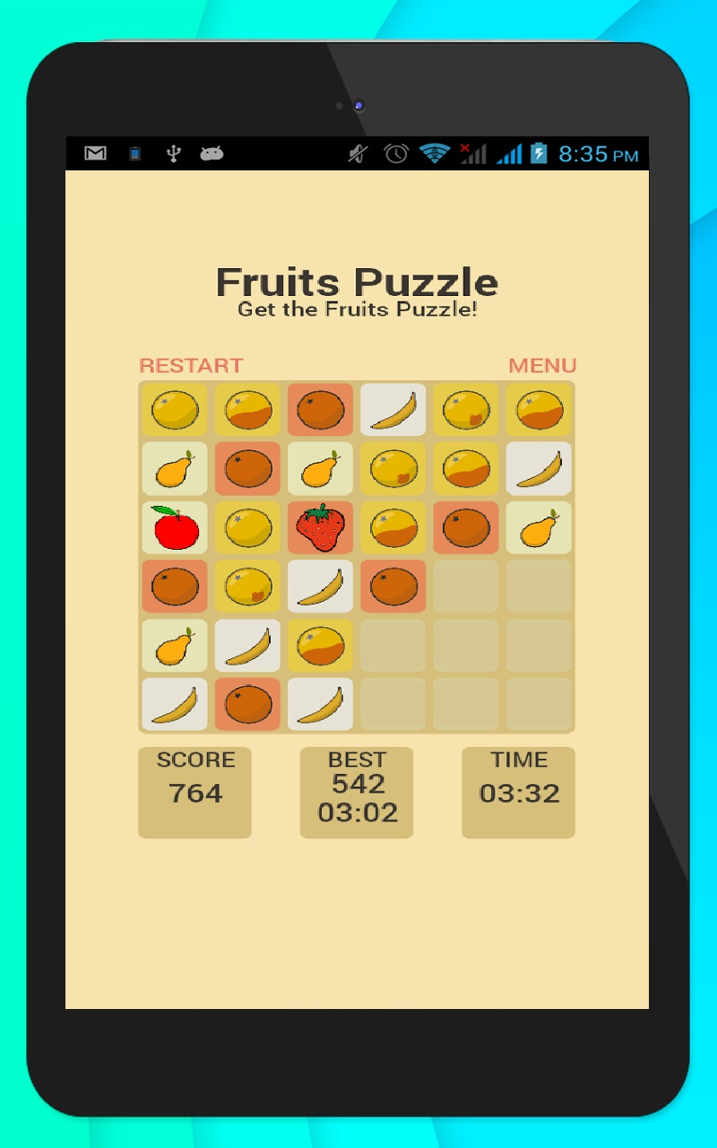 Fruits Puzzle by SA Apps