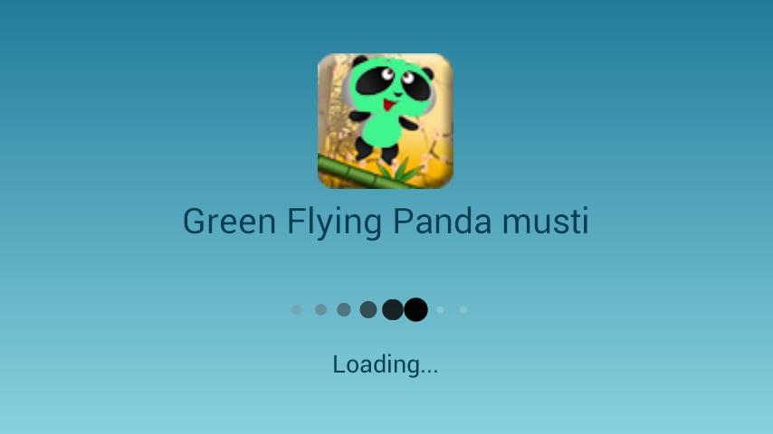 Green Flying Panda musti