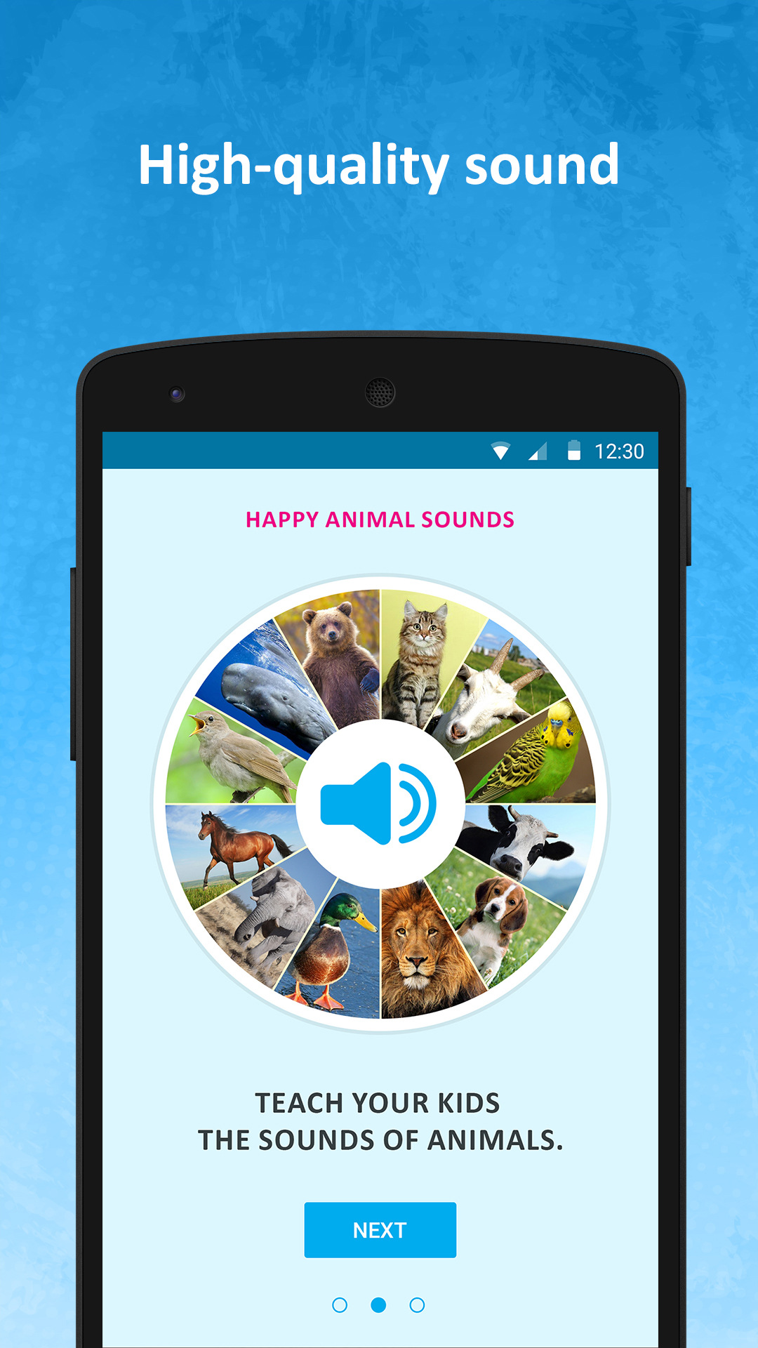 Happy animal sounds