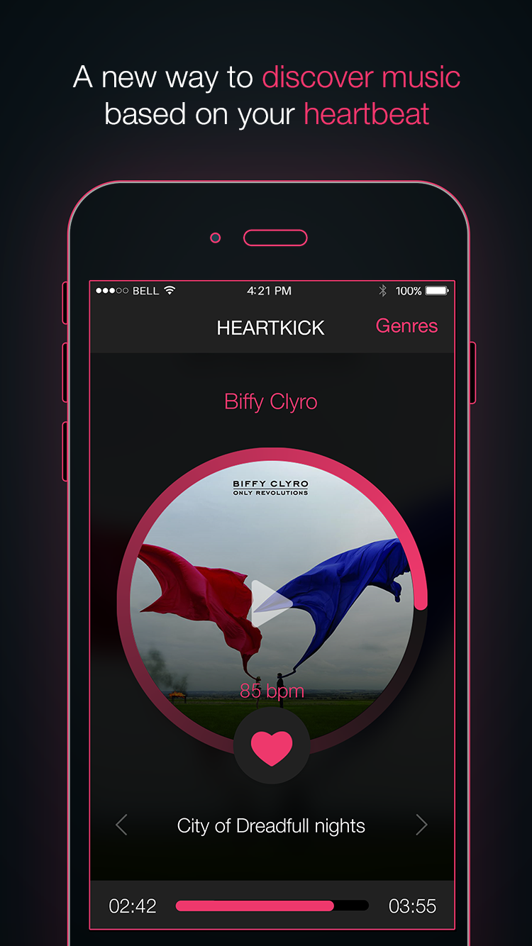 Heartkick – Stream music from your heart