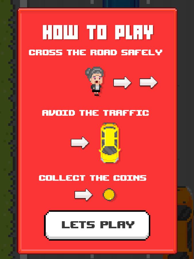 Jaywalker Granny - Pixel Crossy Road