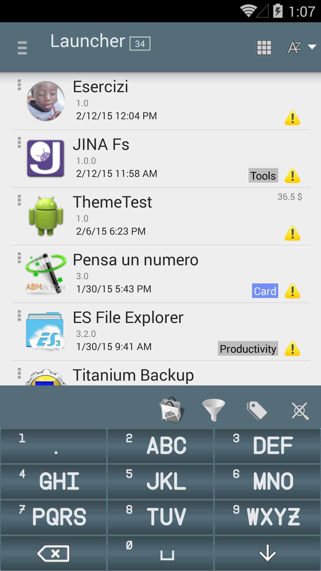 JINA Fs App Organizer