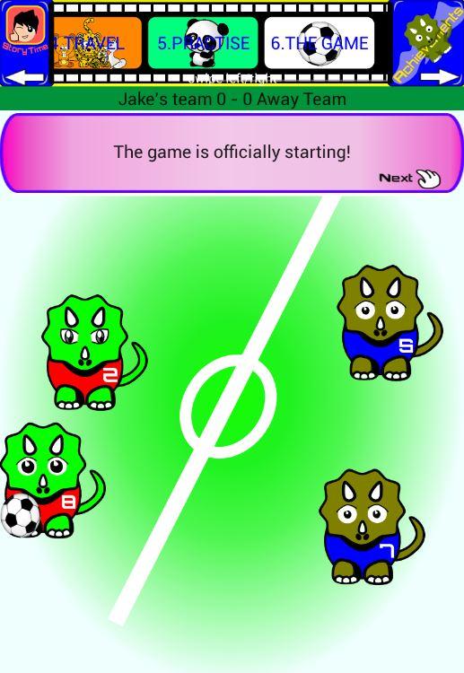 Jurassic Dinosaur Soccer Story